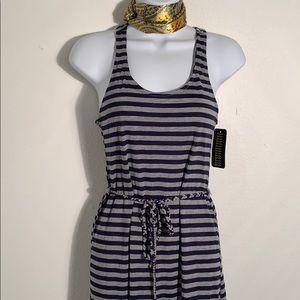 Just Love maxi sun dress knit belted S/M stripe